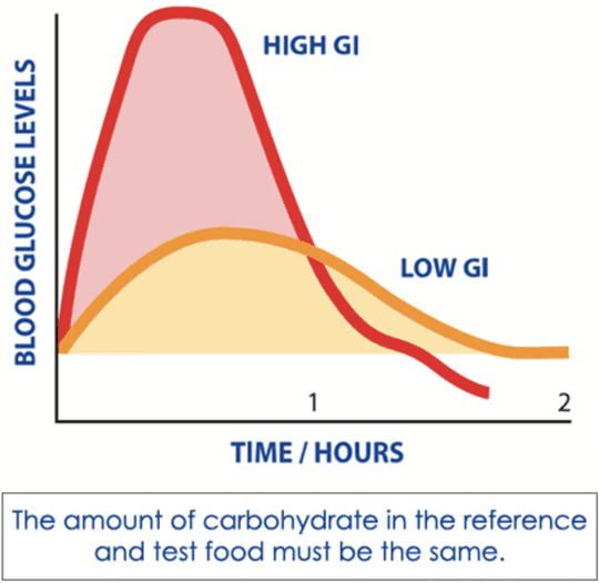Time Hours vs. versus Blood Glucose Levels High GI Low GI carbohydrates