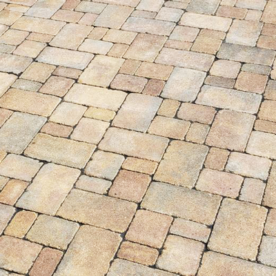 Charcoal with Cream Pavers