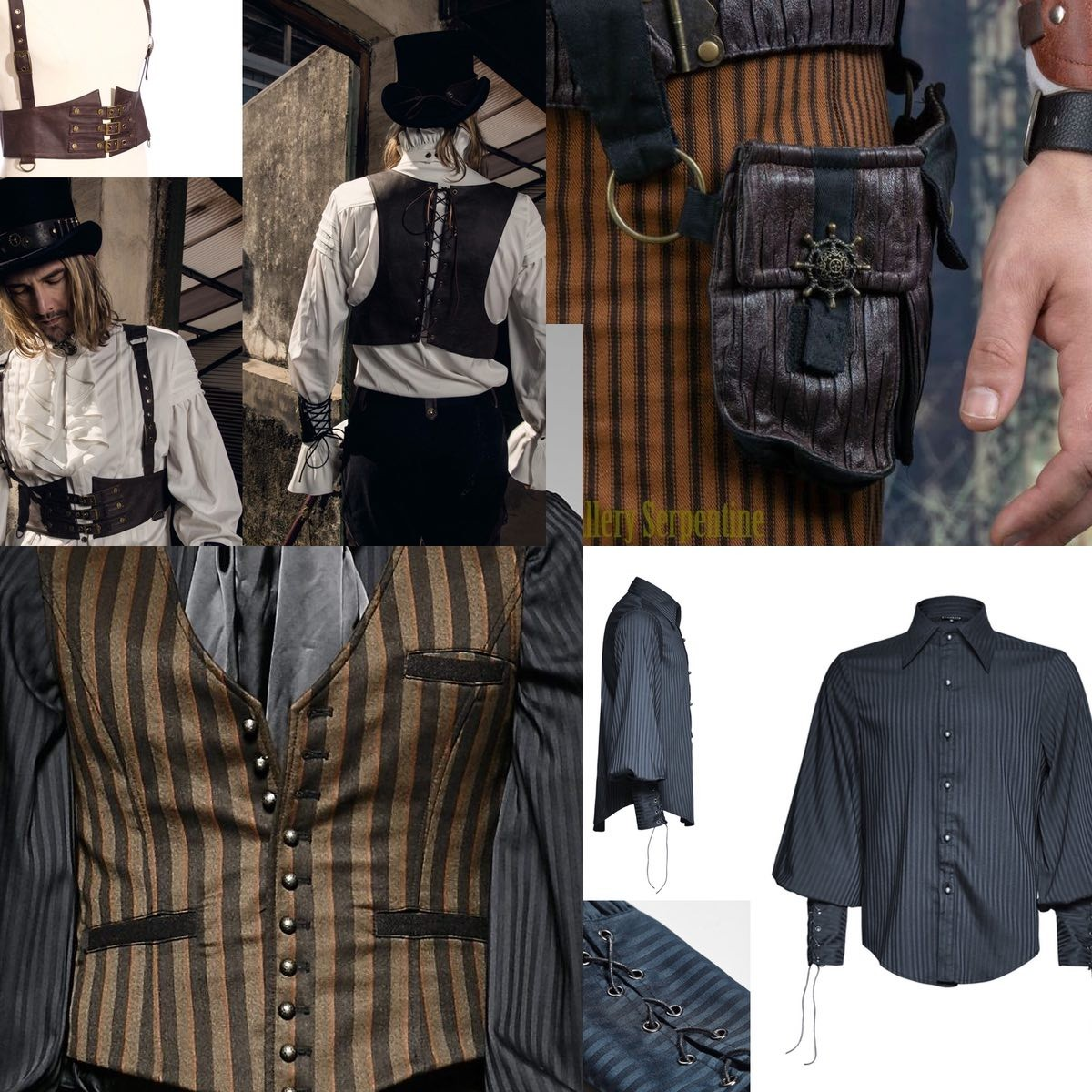 steampunk victorian and a bit of modern style pirate shirt action for guys looking for a bargain