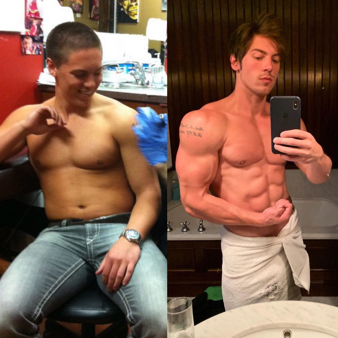 transformation of Greg getting more muscle