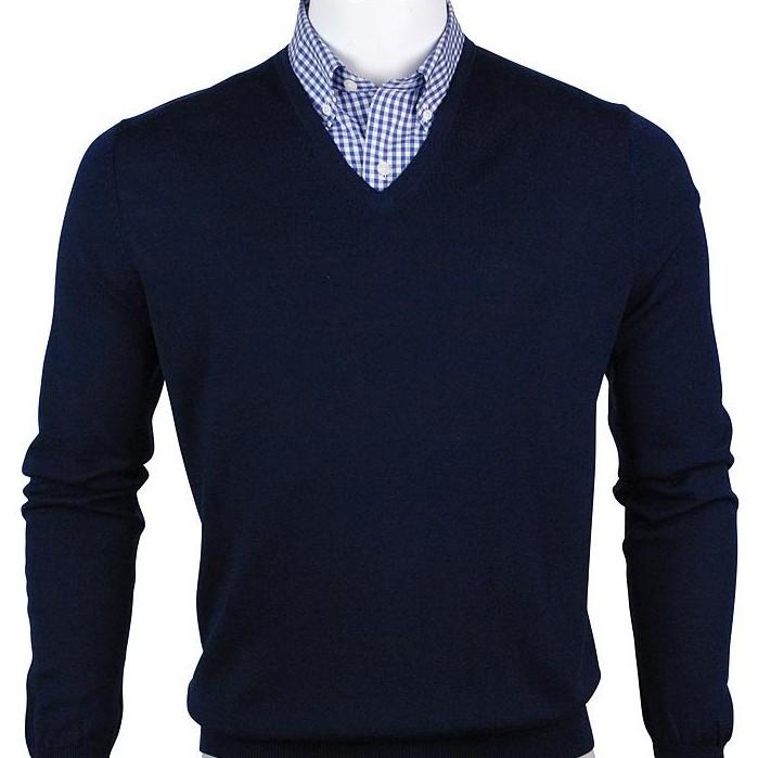 F&G Sweater - Baruffa Merino Classic V-Neck