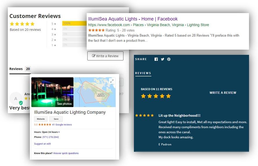 Reviews on Underwater Dock Lights and LED Fishing Lights