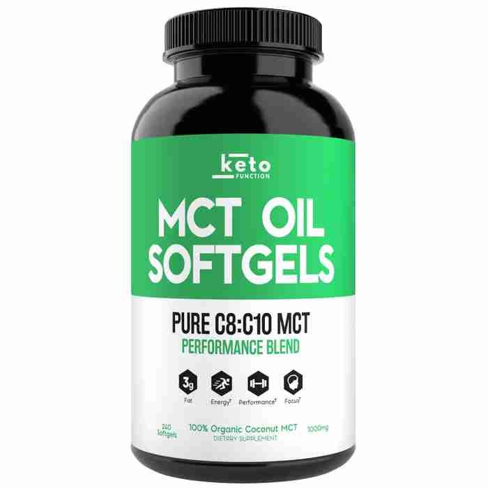 best keto mct oil capsules softgels C8 C10 organic coconut