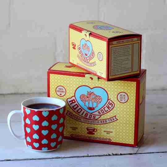 rooibos rocks boxes and mug
