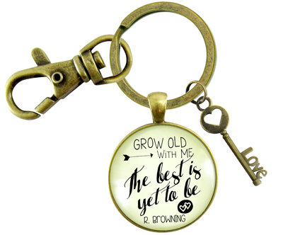 GROW OLD WITH ME KEYCHAIN