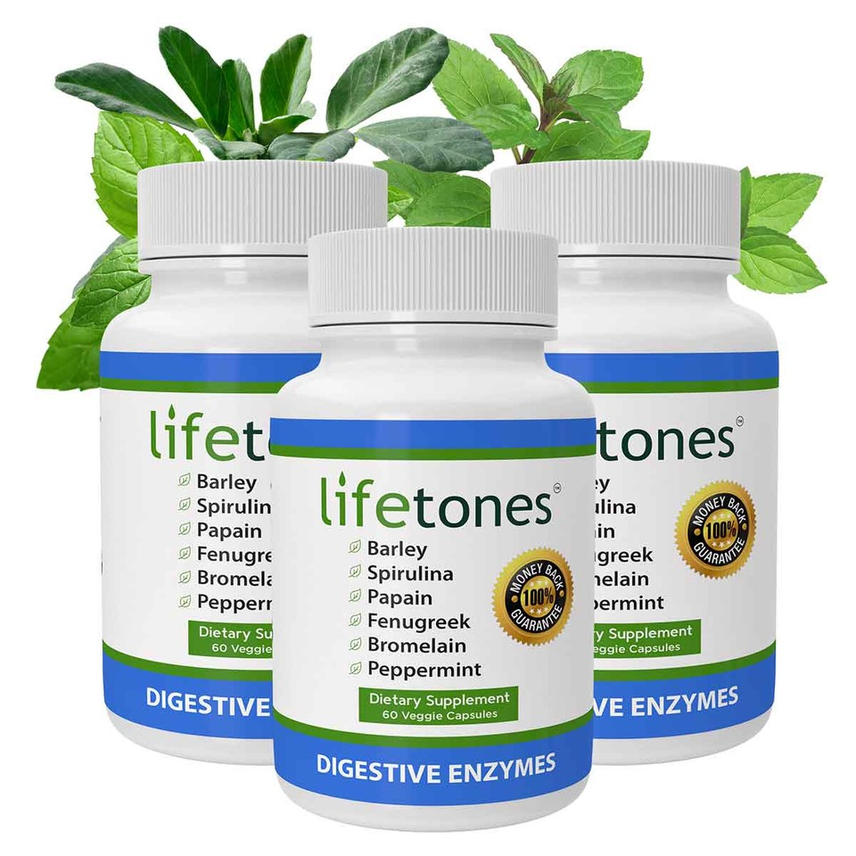 Lifetones Digestive Enzymes | 3 Pack