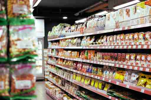 candy and sugar in the aisles of the grocery stores