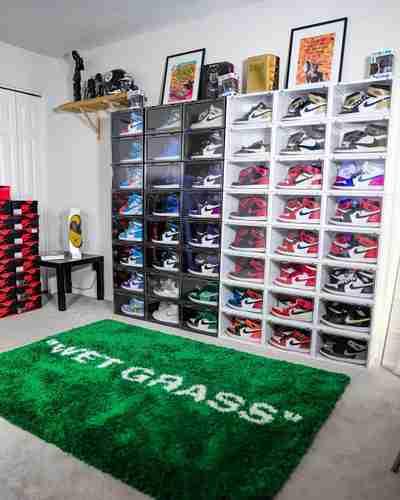 DJ Sneakerhead's Drop Side Display Case Setup