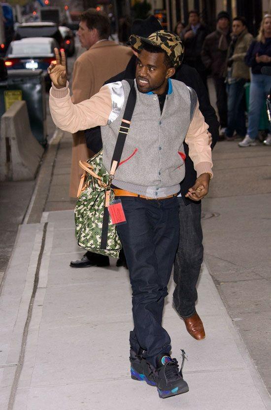 Kanye West in the Air Jordan 8