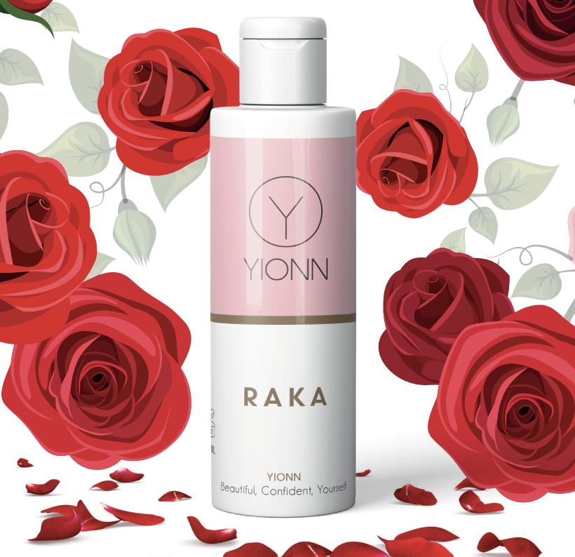 Vernieuwde Ylonn Raka met rozenwater.