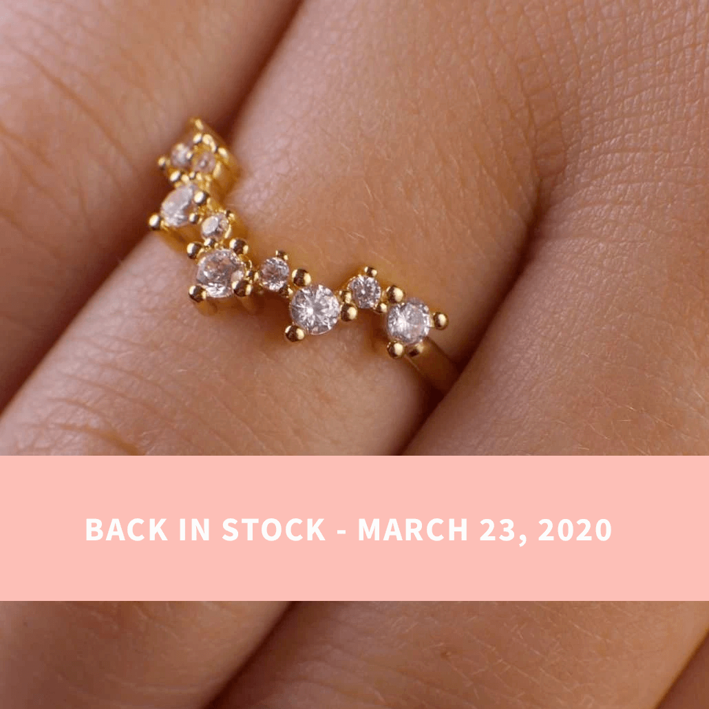 Valerie V Stack Cluster Ring