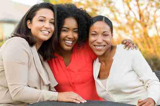 Black women having fun and smiling