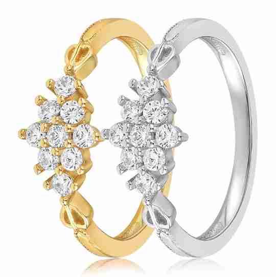 The Blush and Bar Sarah Snowflake ring