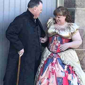 David with partner and model Nicole Kirkwood on location for a steampunk shoot