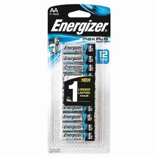 Energizer MAX Plus Advanced AA Alkaline Batteries 10 Pack