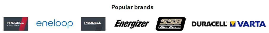 Popular brands