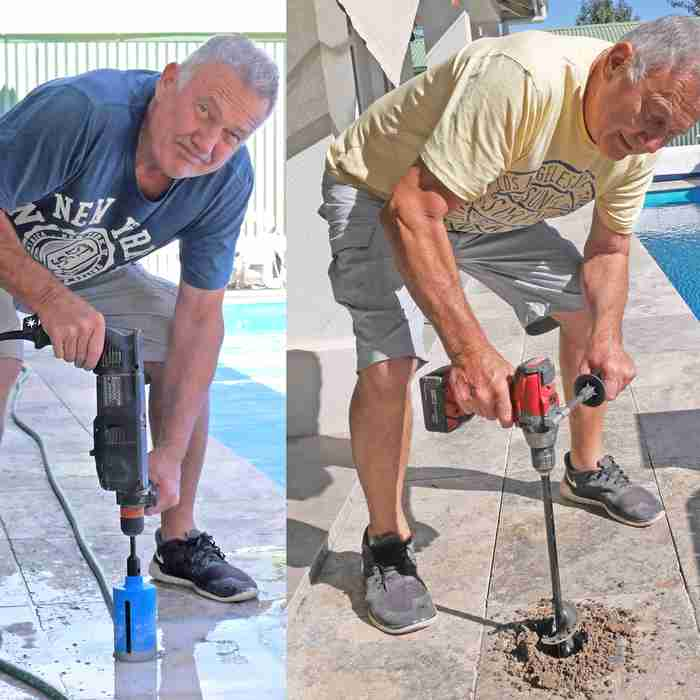 Mike Down figured out a smart way to install pool fences through paving using the Power Planter