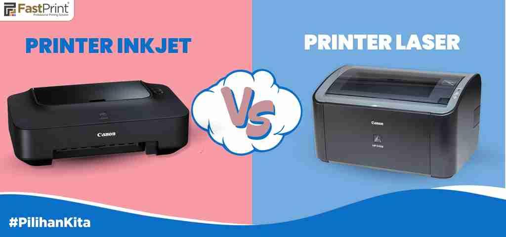 Perbedaan printer inkjet dan laser