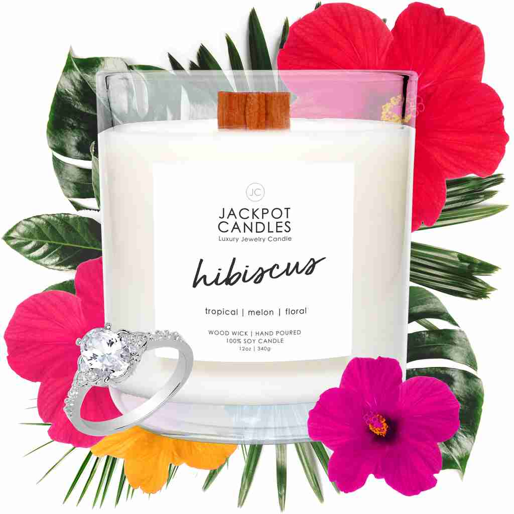 Hibiscus candle