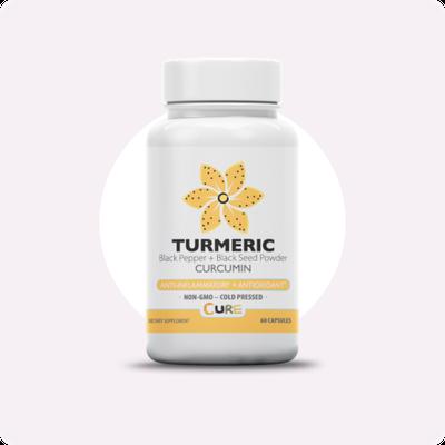 Vegan Turmeric black seed oil capsules