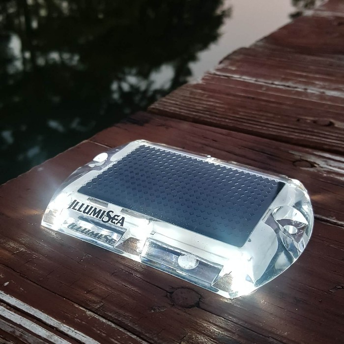 white led solar dock waterproof lights