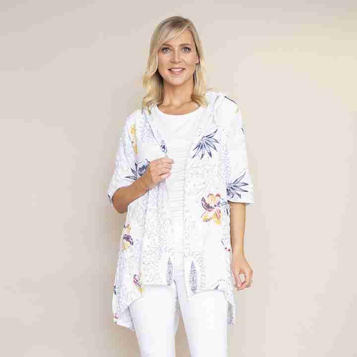 Lily Cotton Hoody Jacket(White)