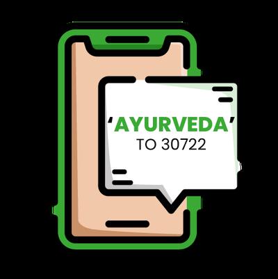 Text AYURVEDA to 30722