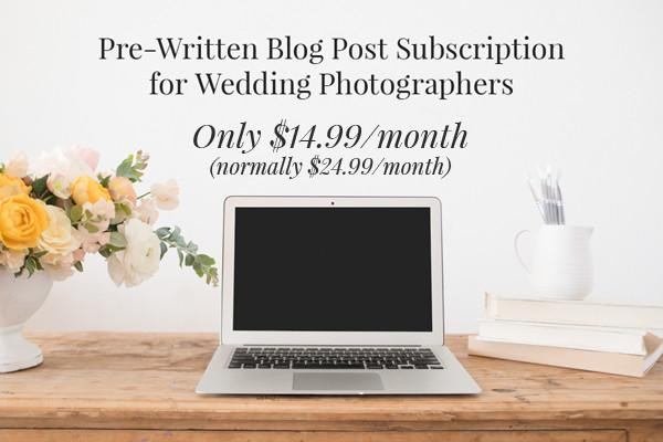 wedding photography blog posts