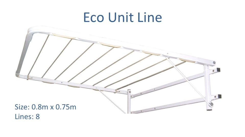 eco unit line clothesline modified to 0.75m wide by 0.8m deep