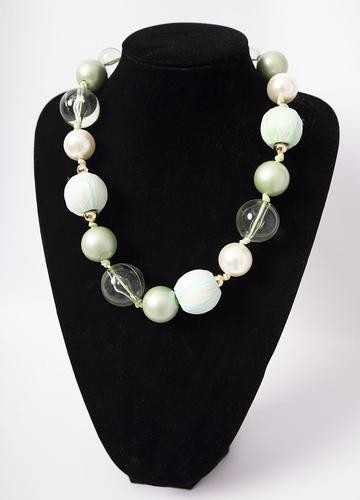 Chunky Pearl & Stone Necklace