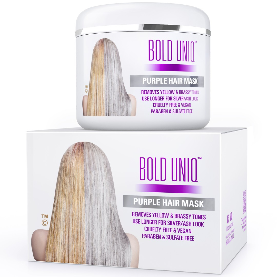 Bold Uniq purple hair mask for blonde hair