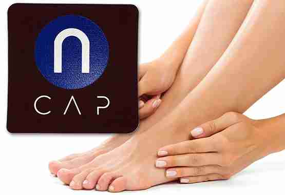 Foot pain relief as simples as placing ncap pain relief just above your feet