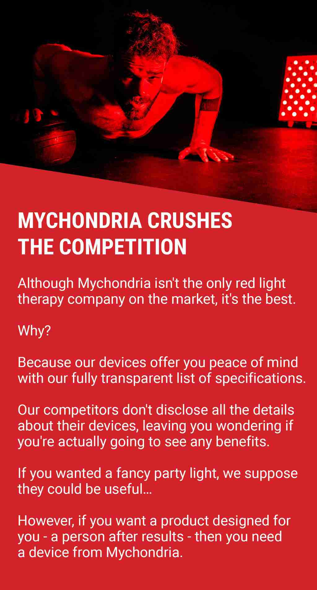 What makes Mychondria the best red light therapy company