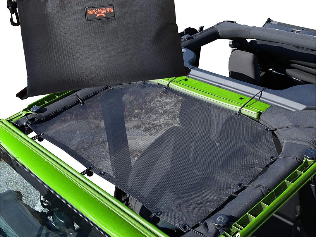 Badass Moto Jeep Wrangler JK Mesh Sun Shade Top Cover