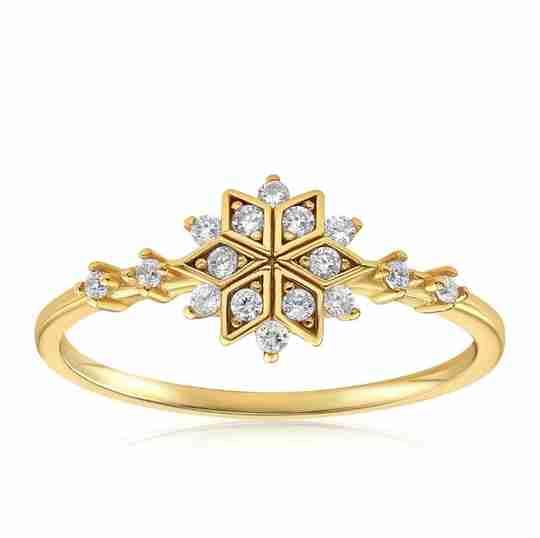 The Blush and Bar Sophia Snowflake ring