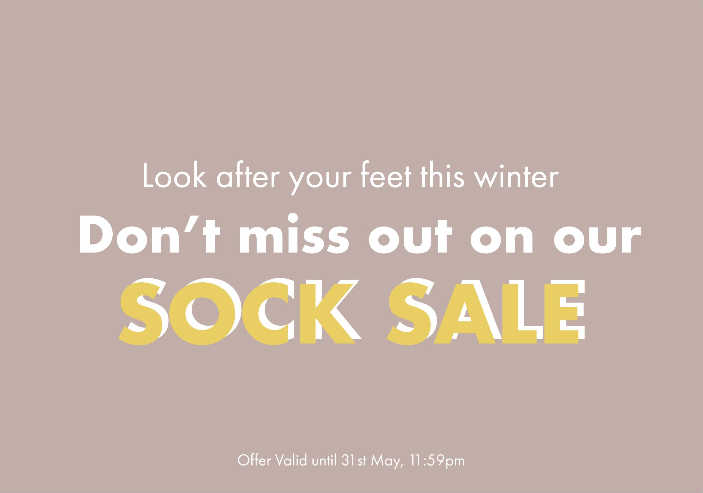 Sock Winter sale Banner