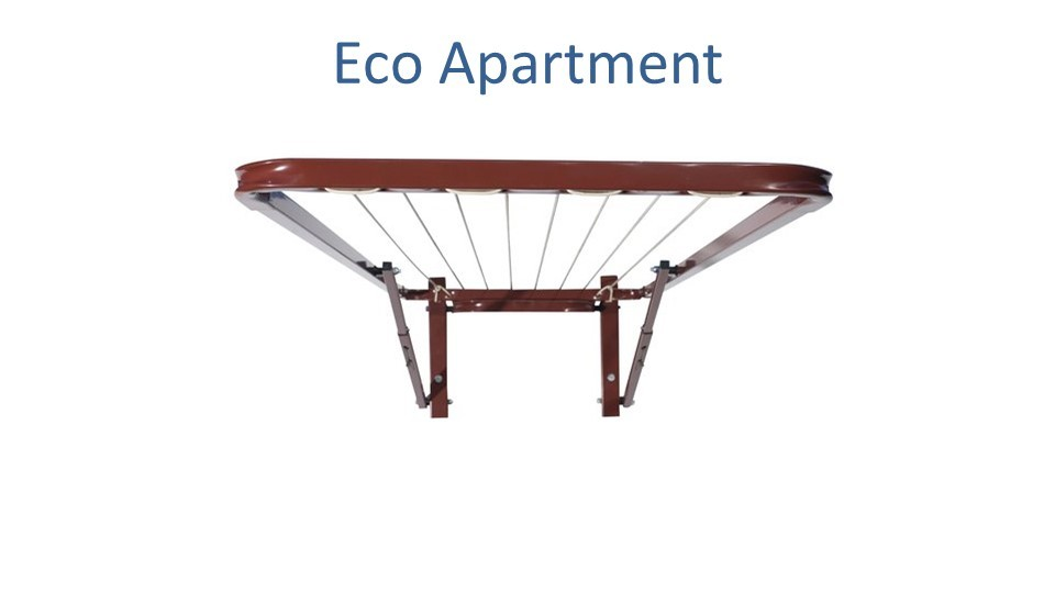 eco apartment clothesline 0.52m wide x 1.5m deep front view
