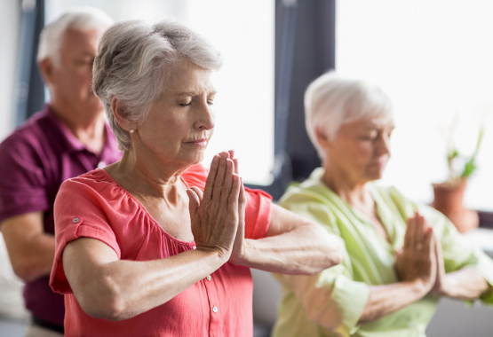 seniors yoga stop smoking calming healthy fit exercise