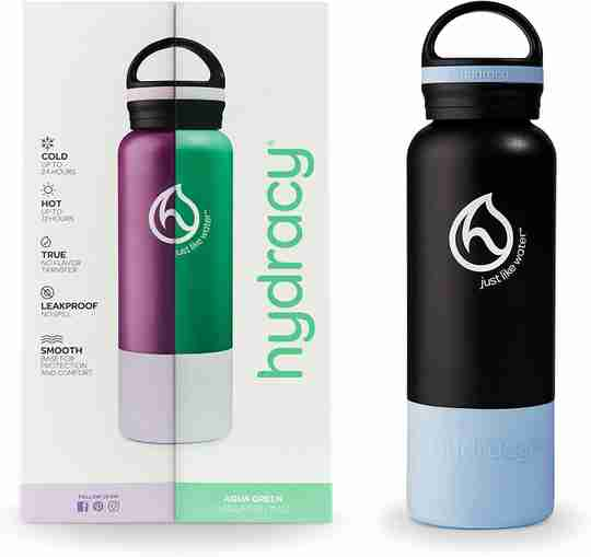 Insulated Water Bottle 21oz - Deep Purple - Bottle & Box