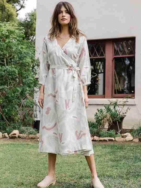 Lily Midi Wrap Dress Berenice Print