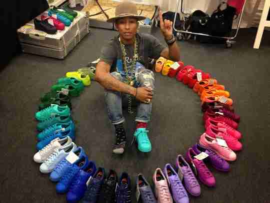 Pharrell Superstar Color Wheel Sneaker Circle