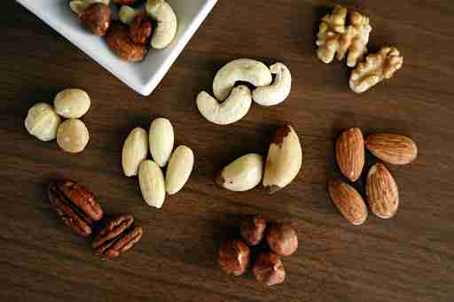 assorted mixed nuts nut healthy fat fats almonds pecans cashews walnuts