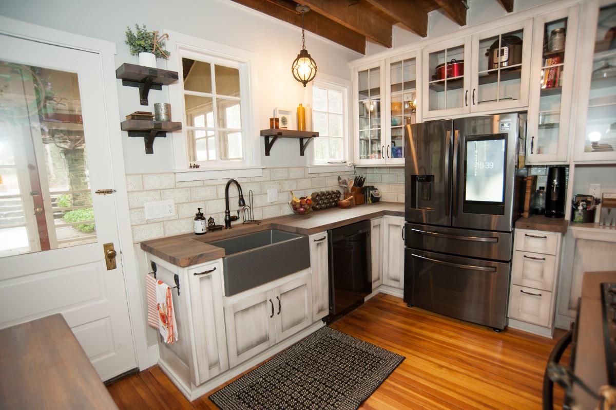 farmhouse walnut counter top