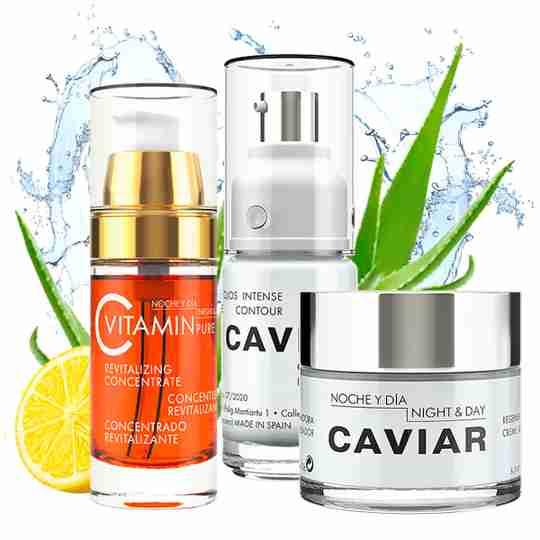 Vitamin C Serum + Caviar Face Cream+ Eye Cream