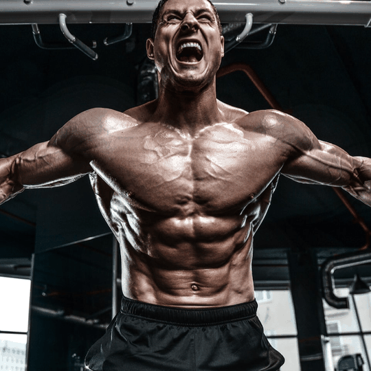 bodybuilder in gym uses testofierce best testo booster to build muscle