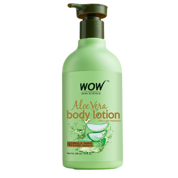 WOW Skin Science Aloe Vera Daily Body Lotion (Ultra Light) - 300 ml
