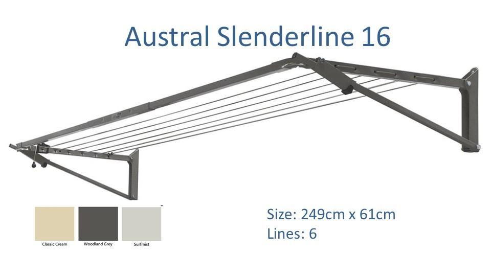 austral slenderline 240cm wide clothesline dimensions