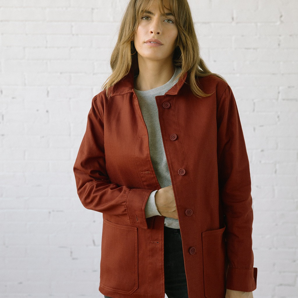 The Beverly Chore Coat Sepia