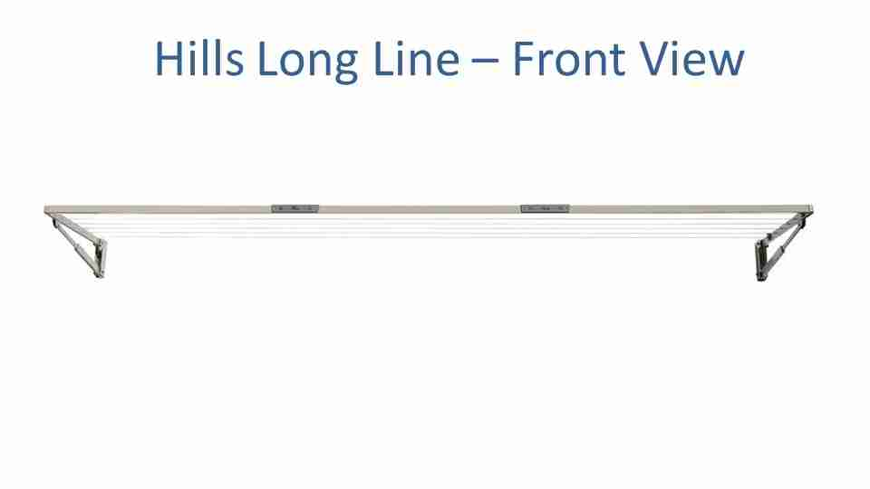3.1m clothesline hills long front view