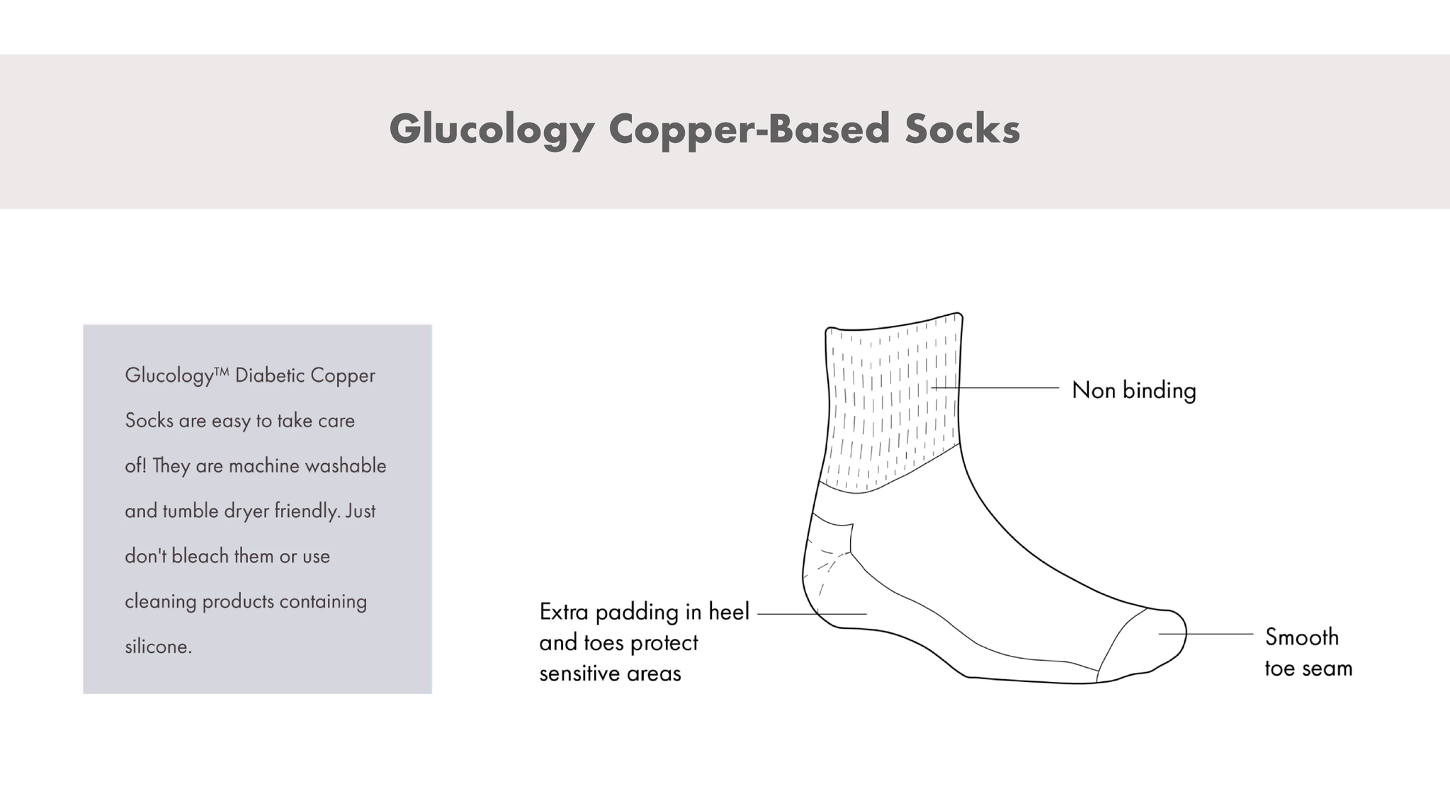 Diabetes support products accessories copper based socks instructions
